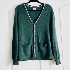 Vintage Merona Green Cashmere Cardigan Small